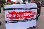 Aktion gegen Landesparteitag der AfD in Heidenheim