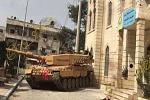 Türkei mit deutschen Panzern in Afrin Stadt