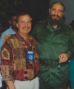 Heinz Stehr, ehemaliger Parteivorsitzender der DKP und Fidel Castro