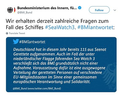 BMI Seawatch3 Twitter