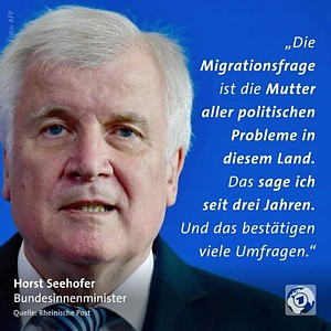 Seehofer Mutter aller Probleme 2018 09 06
