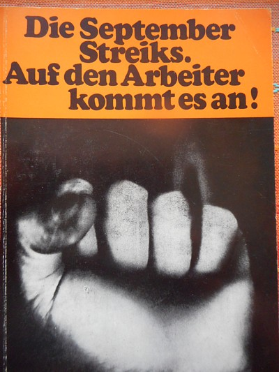 Septemberstreiks1969 Buchtitel