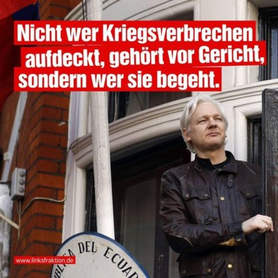 Julian Assange Linksfraktion